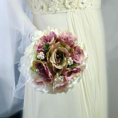 Shabby chic nostalgia  wedding bouquet by wandadesign on Etsy, €60.00