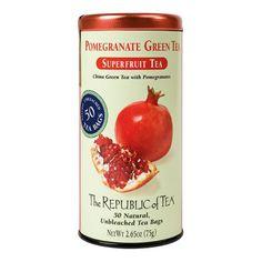 The Republic of Tea, Pomegranate Green Tea- $13.59