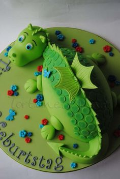 Geburtstag-Kinder » Baby Drachen Torte für Timon zum 3.Geburtstag