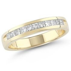14k Gold Princess-Cut Diamond Anniversary Band (1.00 cttw, H-I Color, I1-I2 Clarity) Amazon Curated Collection. $1250.00. All our diamond suppliers certify that to their best knowledge their diamonds are not conflict diamonds.. The total diamond carat weight listed is approximate. Variances may be up to .05 carats.