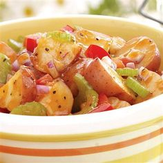 Homestyle Barbecue Potato Salad: It's a BBQ lover's dream!  A welcome addition to the picnic basket, this salad is full of that sweet, tangy taste usually reserved for grilled meats. And we all know you can't squeeze enough BBQ into a proper Labor Day celebration!