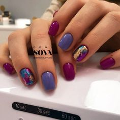 "If you're unfamiliar with nail trends and you hear the words ""coffin nails,"" what comes to mind? It's not nails with coffins drawn on them. It's long nails with a square tip, and the look has. Foil Nails, Shellac Nails, Nail Polish, Foil Nail Art, Nails With Foil, Neon Nail Art, Fancy Nails, Cute Nails, Pretty Nails"