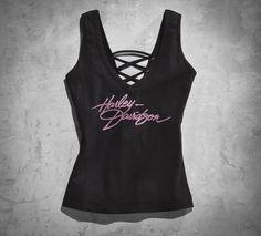 Pink Label Lace-Back Tank