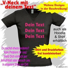 V-Neck Shirt mit deinem Text individuell mit Flexdruck Geschenk Geburtstag