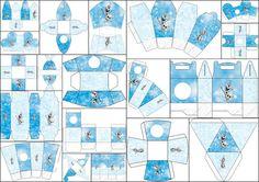 Olaf: Cajas para Imprimir Gratis.   Ideas y material gratis para fiestas y celebraciones Oh My Fiesta!