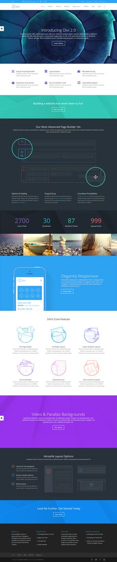 Divi WordPress Theme 2.0 via Behance #web #design