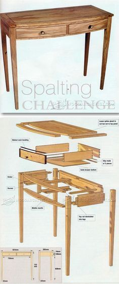 Side Table Plan - Furniture Plans and Projects   WoodArchivist.com