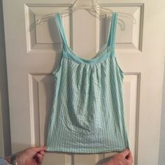 Tank top Baby blue and white checkered tank top Old Navy Tops Tank Tops