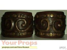 In leather and resin. Original Tv Series, Original Movie, Xena Costume, Upper Arm Cuffs, Xena Warrior Princess, Movie Costumes, Arms, The Originals, Puppets