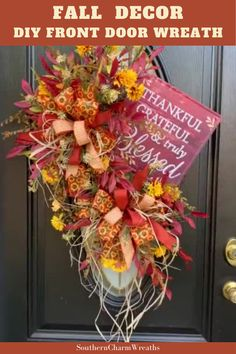 Learn how to make this beautiful Thanksgiving wreath for your front door. Julie, from Southern Charm Wreaths, teaches you techniques and gives you tips, along with a VIDEO demonstration, on the process of this wreath. You will have so much fun making this wreath!
