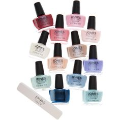 Jones New York Nail Polish Collection ($7.99) ❤ liked on Polyvore featuring beauty products, nail care, nail polish and jones new york