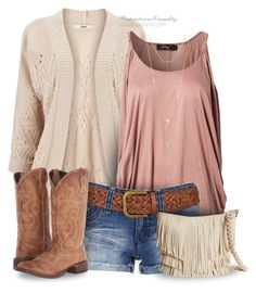 """""""Western Chic"""" by casuality ❤ liked on Polyvore featuring Oasis, YMI, Roper, Trilogy, M&F Western, House of Harlow 1960 and country"""