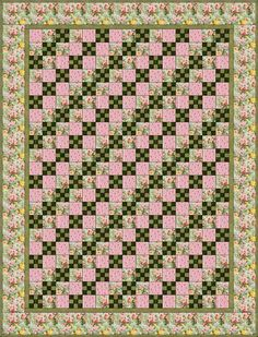 free quilt block patterns to print | One Layout Example of a Nine Patch Chain Quilt