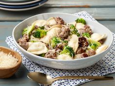 20-Minute Crispy Pierogies with Broccoli and Sausage recipe from Food Network Kitchen via Food Network
