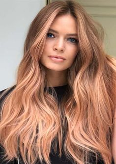 Bold shades of strawberry blonde hair colors for long hair styles to show off on all the special occasions and parties in this year. If you are really thinking to change your existing hair colors then we suggest you to check this modern strawberry highlights and shades so that you may get best hair looks nowadays.