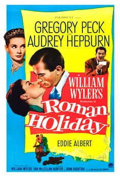 Roman Holiday - Home Theater Decor - Romance Classic - Movie Poster Print 13x19 - Audrey Hepburn - Gregory Peck., terrific film!.