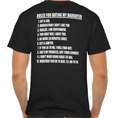 Rules For Dating My Daughter Black T-shirt (Father's Day)