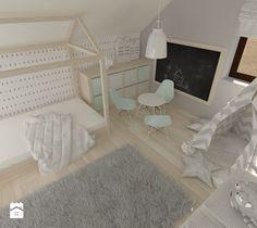 Aranżacje wnętrz - Pokój dziecka: Pokój dla małej dziewczynki na poddaszu - Średni pokój dziecka dla dziewczynki dla malucha, styl skandynawski - Am Design Studio projektowania wnętrz. Przeglądaj, dodawaj i zapisuj najlepsze zdjęcia, pomysły i inspiracje designerskie. W bazie mamy już prawie milion fotografii!