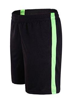6cb53fa6619 JSUN7 Mens Basic Sport Shorts with PocketsBlack GreenUS XLAsianXL -- Want  to know more