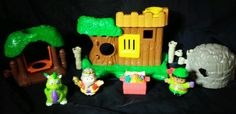 Fisher-Price Little People Kingdom Woodland Forest Playset Woodsman King Dragon  #FisherPrice