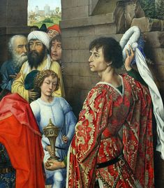 Van der Weyden (ca1399-1464), St Columba Altarpiece, ca 1455, oil on oak panel, central panel, Adoration of the Magi, detail. Columba-Altar,  Anbetung der Könige. Canon 7D