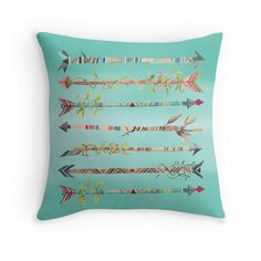 Arrows Pillow Cover Blue Bohemian Nursery by TheGentlePorcupine