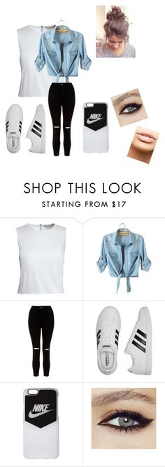 """""""outfit for school"""" by ayel-nueva on Polyvore featuring Canvas by Lands' End, New Look, adidas, NIKE and MDMflow"""