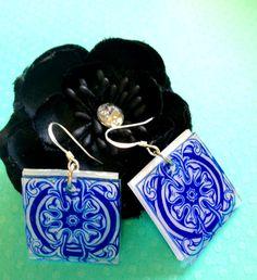 Delight of Blue Earrings by JoelleLove on Etsy