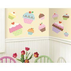 Happi Cupcake Giant Wall Decals RMK2037GM  $18.49