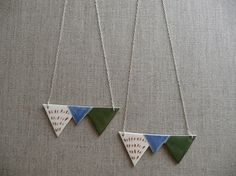 Zigzag Mountain Silver Necklace by andODesign on Etsy, $80.00