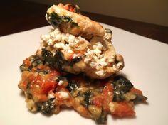Greek Stuffed Chicken Best Comfort Food, Comfort Foods, Stuffed Chicken, Romantic Dinners, New Recipes, Risotto, Entrees, Greek, Paleo