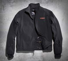 Extend your riding season with this black, zip-front  jacket that can be heated from your bike or from a battery pack.   Harley-Davidson Men's Dual-Source Heated Jacket Liner