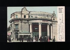 1905 Stauch's Hotel Coney Island Brooklyn NY Post Card With Glitter