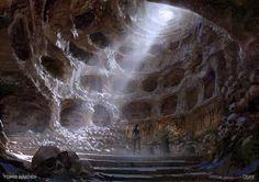 Burial Room -  Rise of the Tomb Raider Concept Art, Yohann Schepacz OXAN STUDIO on ArtStation at https://www.artstation.com/artwork/1wbn2