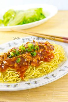 Hong Kong 'Zha Jiang' Noodles (炸醬麵) from Christine's Recipes .  Different from my usual Shanghai style