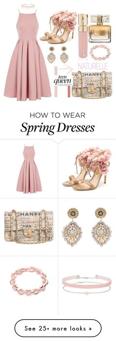 """""""New Natural"""" by teenagemindbambi on Polyvore featuring Chi Chi, Rupert Sanderson, Chanel, Miss Selfridge, Smith & Cult, Givenchy and Miguel Ases"""