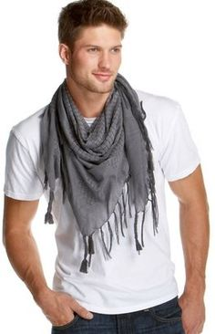 this guy knows. the man-scarf is sexy