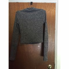 Express, size S, sweater crop top Long sleeved, slight turtleneck, crop top from express; like new condition, bought this winter, worn once. Express Tops Crop Tops