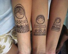 .i love friend tattoos, these are some of the best, i would never have thought of it
