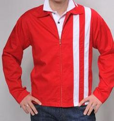 Speedway Jacket (originally worn by Elvis Presley) Downtown Memphis, Concept Shop, Elvis Presley, Retro Fashion, Red And White, Retro Style, Rockabilly, Sweaters, Mens Tops