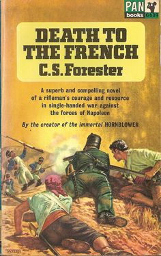 Death to the French by C.S. Forester. 1963. Cover art by David Tayler. Vintage Pan paperback book cover.