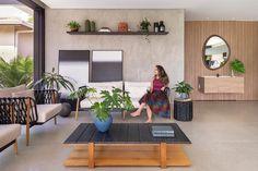 Espaço de Lazer para Receber | Casa de Valentina Modern Interior, Interior Design, Outdoor Furniture Sets, Outdoor Decor, Beach House, Sweet Home, New Homes, Living Room, Architecture