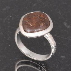 BOULDER OPAL 925 SOLID STERLING SILVER DESIGNER RING 5.02g DJR6015 #Handmade #Ring