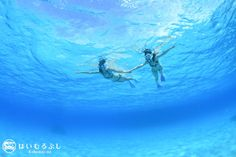 透き通るような青い世界が広がる八重山の海…  宙に浮いているようなシュノーケル体験ができます。