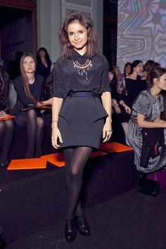 Miroslava Duma statement necklace all black