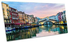 #Rialto bridge venice #italy panoramic box #frame canvas art picture,  View more on the LINK: 	http://www.zeppy.io/product/gb/2/152037194355/