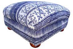 Indigo Batik    Ottoman on OneKingsLane.com