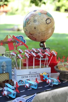 Airplane Party, Plane Party, Airplane Party Ideas, Garden airplane party…
