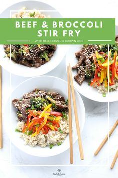 I love takeout but I don't love the fact that it generally isn't all that healthy or fresh. This Healthy Beef and Broccoli Stir Fry tastes like takeout but is loaded with fresh and healthy ingredients. It's the best of both worlds! Healthy Meal Prep, Healthy Foods To Eat, Healthy Dinner Recipes, Healthy Stirfry Recipes, Healthy Eating, Lunch Recipes, Healthy Beef And Broccoli, Beef Broccoli Stir Fry, Quick Weeknight Meals