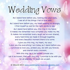 Beautiful!  Exactly something I'd want to say but probably couldn't have come up with it on my own and I love that the words work perfectly for a vow renewal!